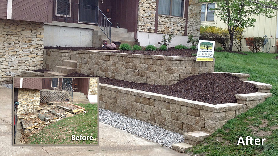 Commercial Retaining Walls In Kansas City Supreme Green