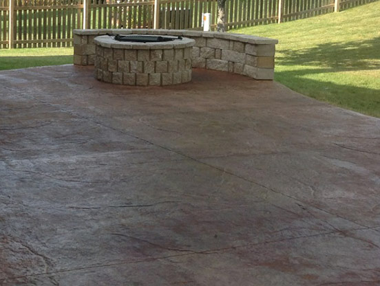 Charming Stained And Stamped Concrete Patios I Supreme Green KC
